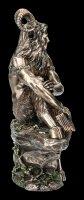 Pan Figurine - Sitting on Stone with Panpipe