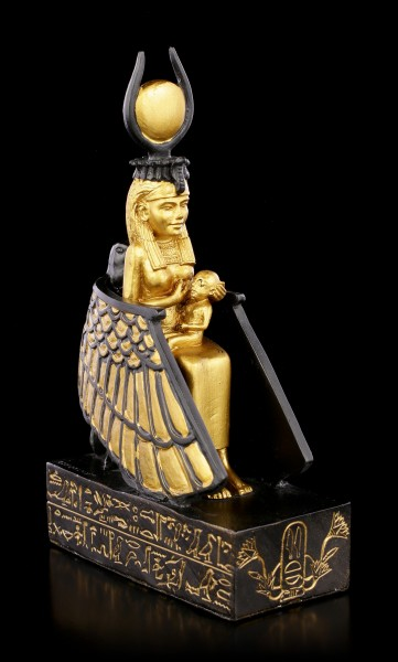 Isis Figurine with Horus Child - gold colored