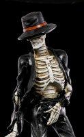Skelett Figur - Tänzer im schwarzen Anzug
