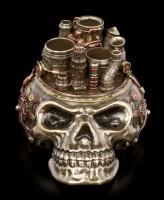 Stiftehalter - Steampunk Totenkopf