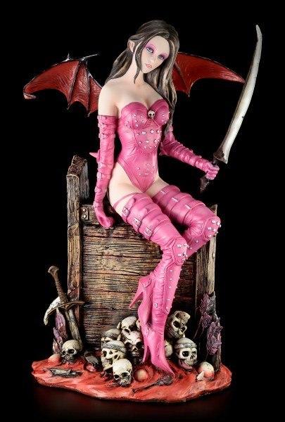Dark Angel Figur - Nieten Outfit und Schädel