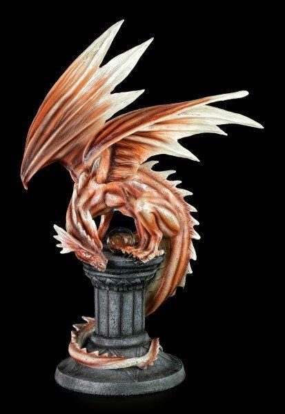 Drachen Figur - Draconor auf Säule mit LED