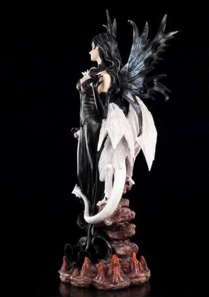 Large Dark Fairy Elain with white Dragon