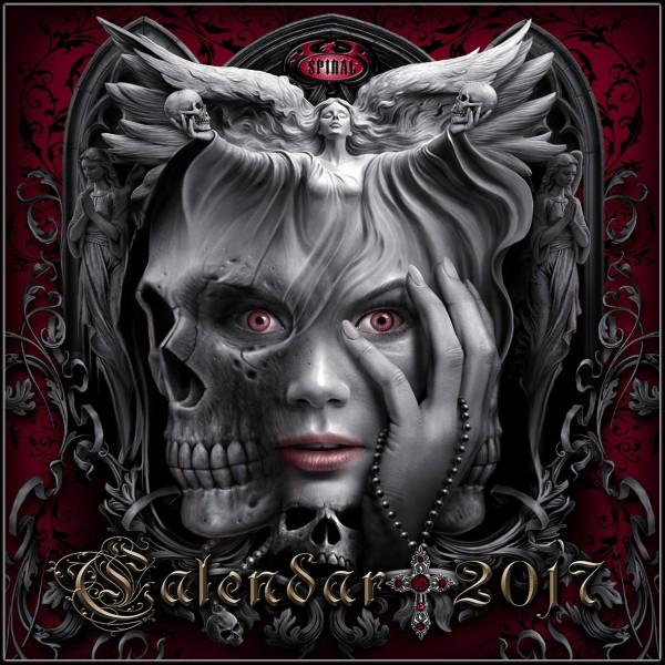 Spiral Kalender 2017 - Gothic Art