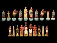 Chessmen Set - Egyptians vs. Romans