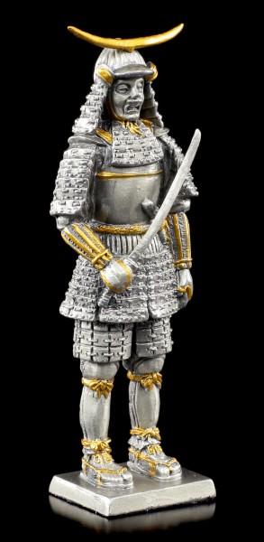 Japanischer Samurai Krieger mit Schwert - Zinn Figur