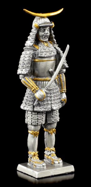 Japanese Samurai Warrior with Sword - Pewter Figurine