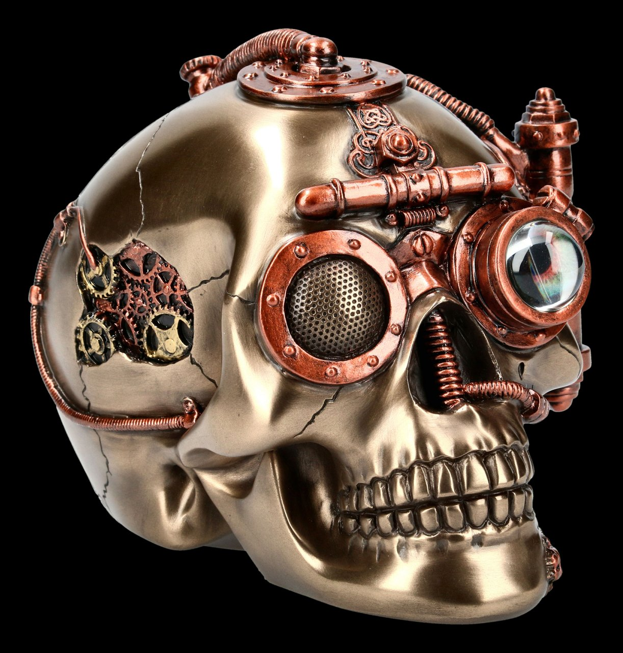 Steampunk Skull Box - Steam Powered Observation
