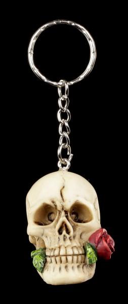 Skull Keyring - Rose from the Dead