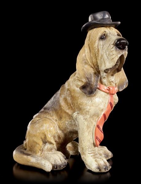 Lustige Hunde Figur - Basset Hound - Curious Dogs