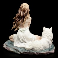 Wolf Figurine with Guardian - Storm Maiden