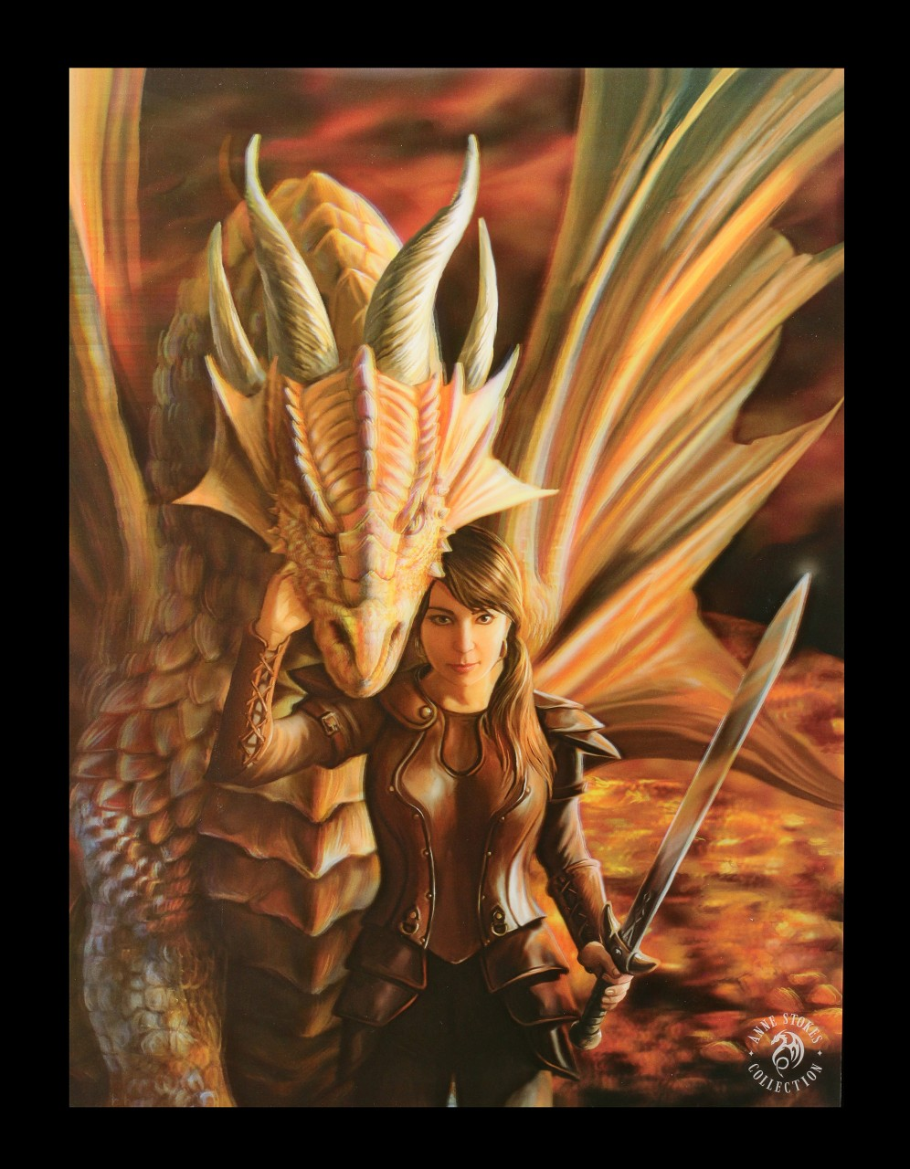 3D Picture with Dragon - Inner Strength
