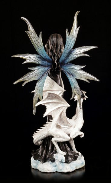 Fairy Figurine - Isadra with white Dragon