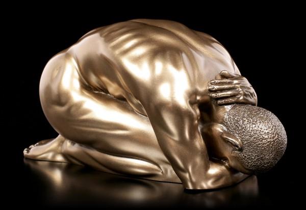 Male Nude Figurine - Kneeling on the Ground