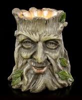Teelight Holder - Greenman Tree