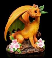 Peach Dragon Figurine by Stanley Morrison