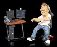 Funny Sports Figur - Gamer vor PC