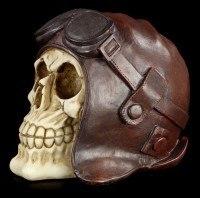 Skull with Pilot's Cap