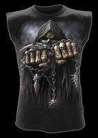 Ärmelloses Shirt - Skelett Reaper - Game Over