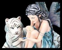 Elfen Figur Katrina mit weißem Tiger