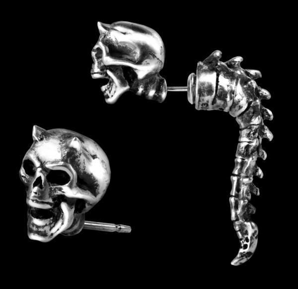 Alchemy Skull Faux Ear Stretcher - Wraith Spine