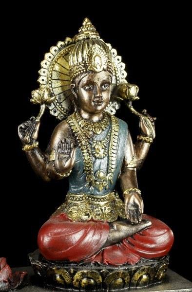 Teelichthalter - Ganesha Figur mit Krishna