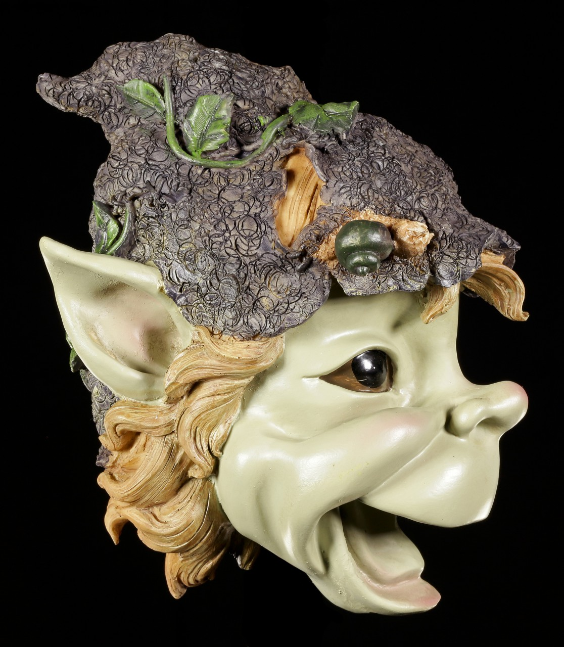 Pixie Wandrelief - Schnecke auf der Mütze