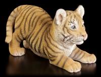 Gartenfigur Tigerbaby will spielen