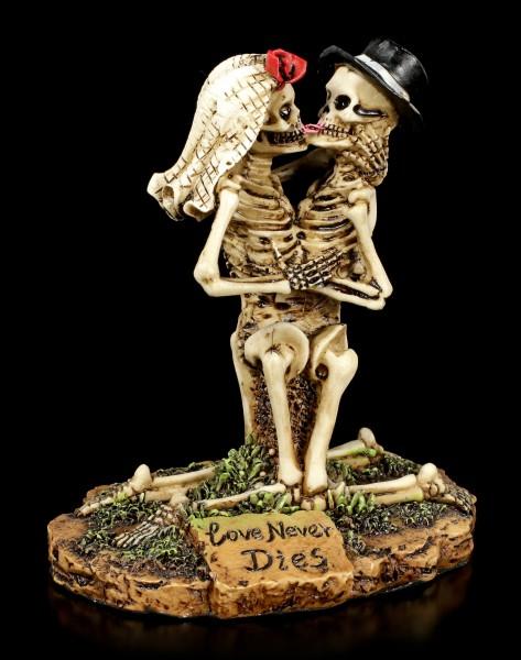 Skelett Brautpaar Figur kniend - Love Never Dies