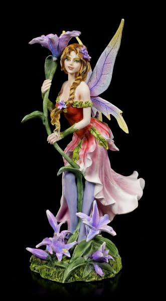 Fairy Figurine - Vivian with purple Flower