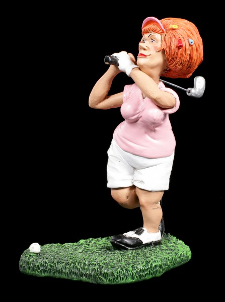 Female Golf Player Figurine at Tee - Funny Sports