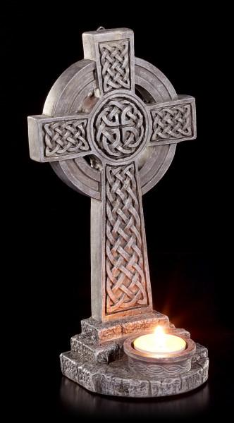 Wand Teelichthalter - Keltisches Kreuz zum Hängen