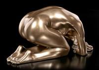 Female Nude Figurine - Kneeling on the Ground