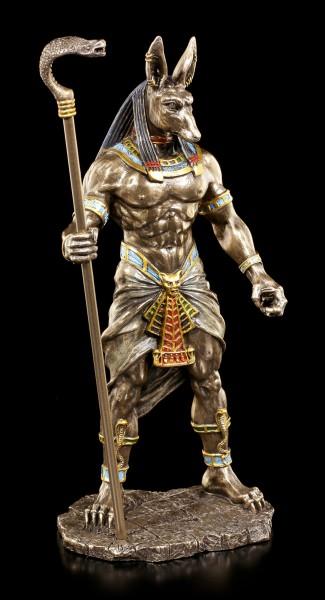 Anubis Figurine with Cobra Scepter