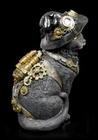 Steampunk Cat Figurine - Clockwork Kitty