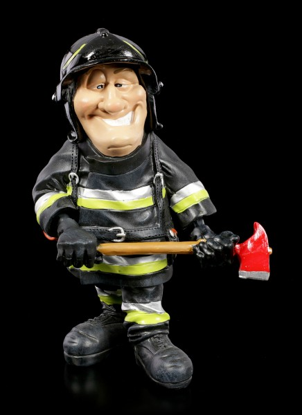 Funny Job Figurine - Fire Fighter with Axe