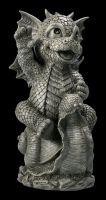 Garden Figurine - Dragon Riding on Snail