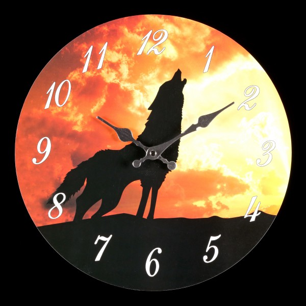 Clock with Wolf