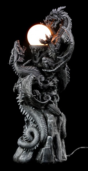 Dragon Lamp - Fighting Dragons