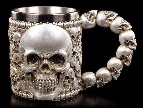 Tankard of Skulls - silver colored
