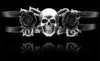 Alchemy Gothic Armschmuck - Skull & Briar Rose