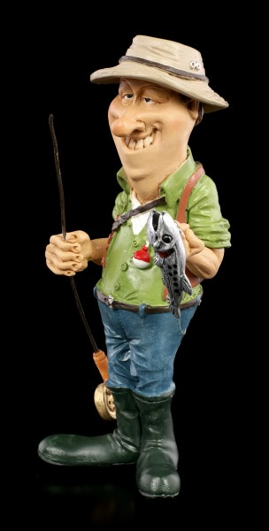 Funny Sports Figurine - Angler with Fish