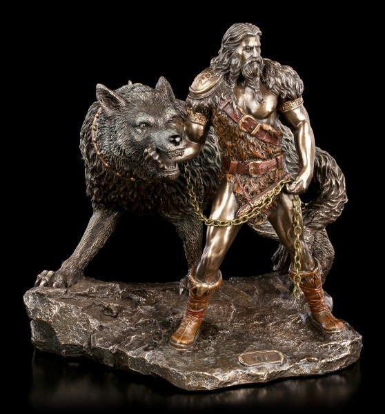 Tyr Figurine with Fenrir - God of War