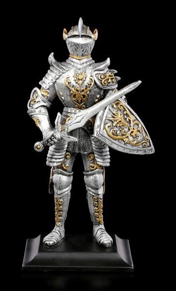 Ritter Figur mit Drachenschild und Schwert