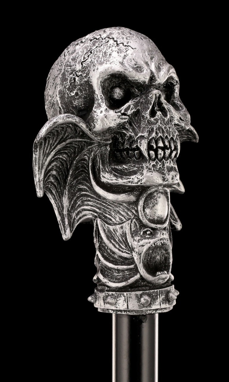Cane - Skull with Bat