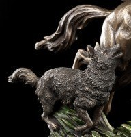 Odin Figur reitet auf Sleipnir