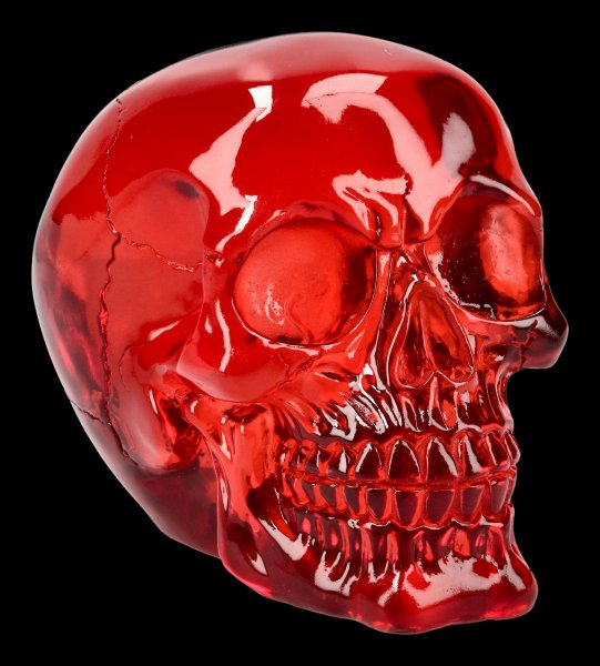 Skull - translucent red