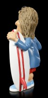 Funny Sports Figurine - Surfer with Surfboard