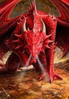 Fantasy Greeting Card - Dragons Lair