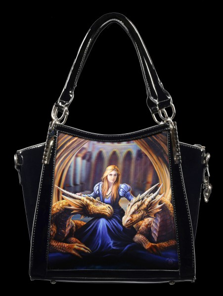 3D Fantasy Handbag with Dragons - Fierce Loyalty